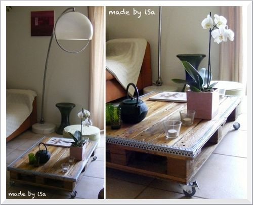 Recyclage Palette: table basse nomade #1