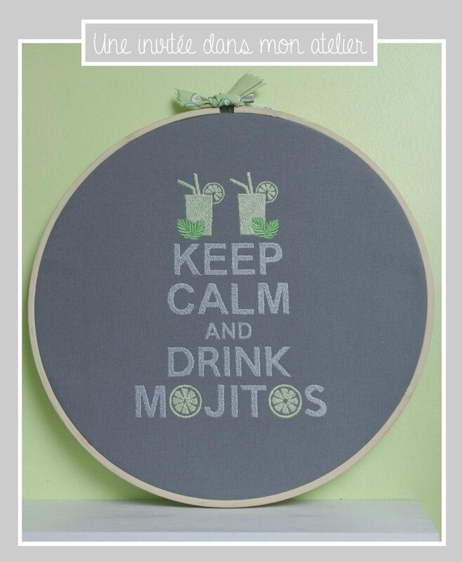 cadre-keep calm and drink mojitos