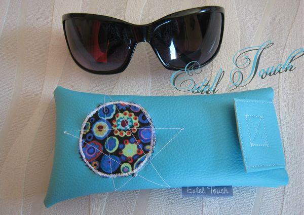 étui lunette turquoise2