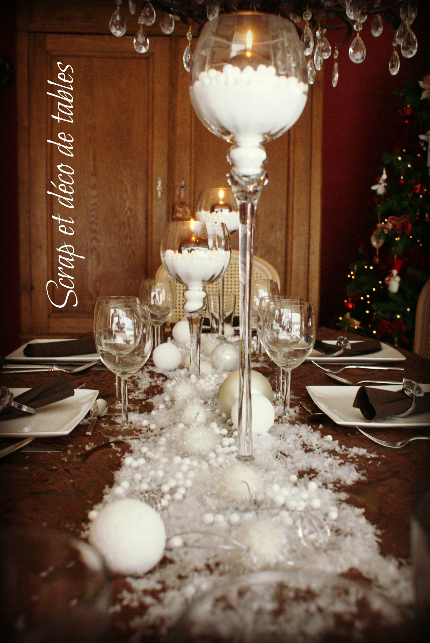 Deco de tables de no l en brun scrap et d co de tables - Decoration de table de noel ...