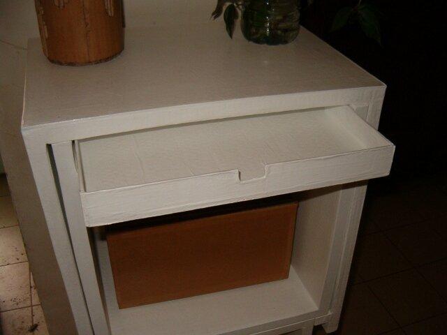 Rajout d'un tiroir sur ma console