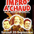 Prochains spectacle en septembre