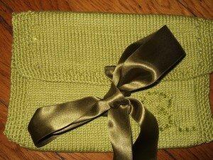 Une pochette pour les 3 ans du tricot-thé/sept07
