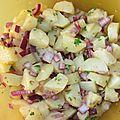 Salade de pommes de terre au gingembre
