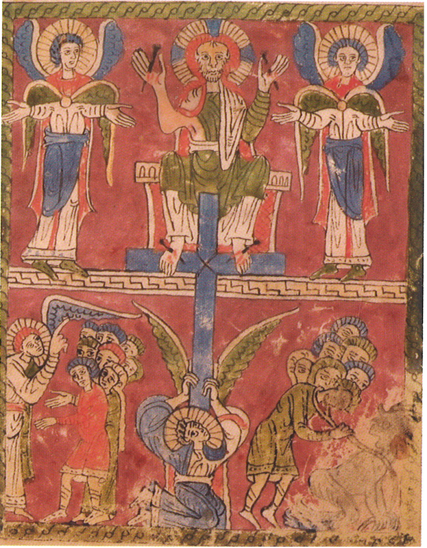 1100-1150 Christ Juge Codex 83 Sarnen folio 8r