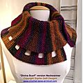 Divina version tour de cou - neckwarmer - défi chevrons