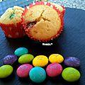 Minis cupcakes aux m&m's