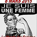 Journée internationale pour les droits des femmes le 8 mars 2016
