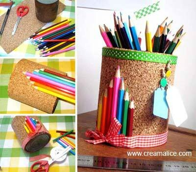 diy pot crayons en li ge id e cadeau pour la ma tresse la r cup dans tous ses tats. Black Bedroom Furniture Sets. Home Design Ideas
