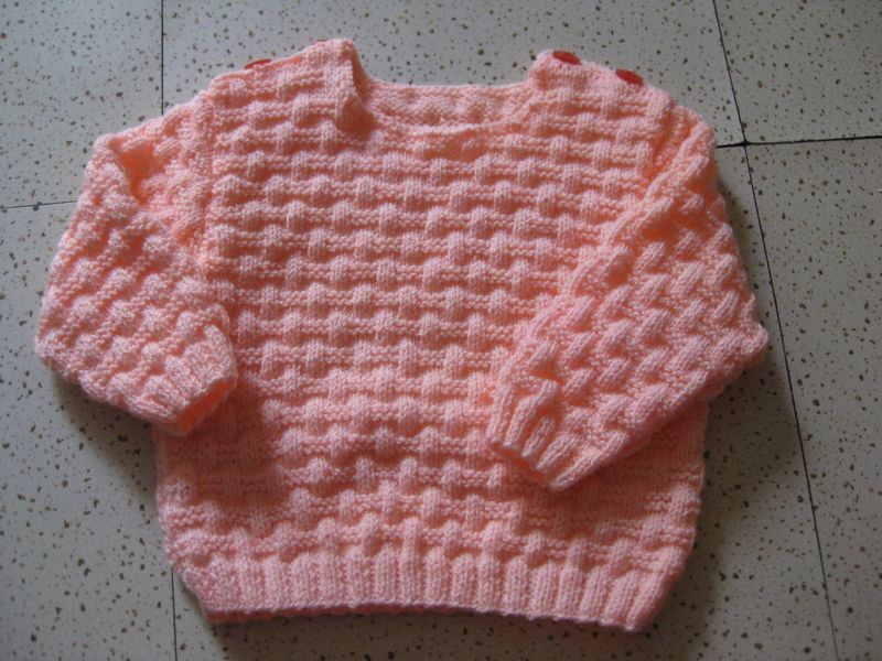 Petit d tour par la case layette les bidouillages de - Point tricot facile joli ...