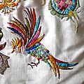 Oiseaux de paradis et fleur d'argent...