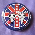 Badge british kawaii 30 mm