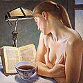 Café noir - Peinture de Francine Van Hove