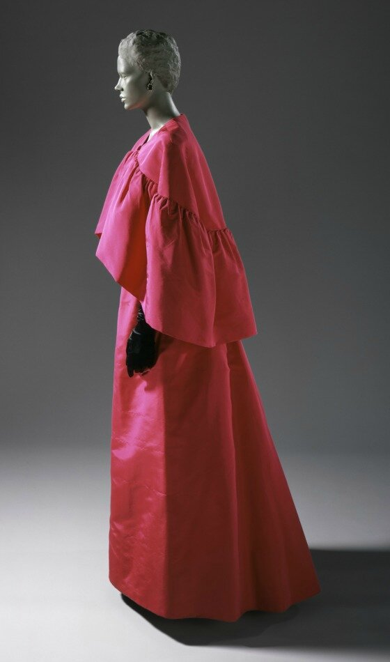 Cristóbal Balenciaga, Woman's Evening Gown and Cape, 1963