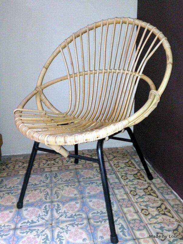 fauteuil soleil en rotin so vintage made by lou le blog. Black Bedroom Furniture Sets. Home Design Ideas