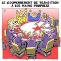Le gouvernement de transition a les mains propres