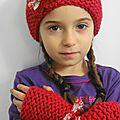 Bonnet mitaines pour ma jolie petite nièce