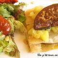 Millefeuille de feuilles de foie gras et de pommes
