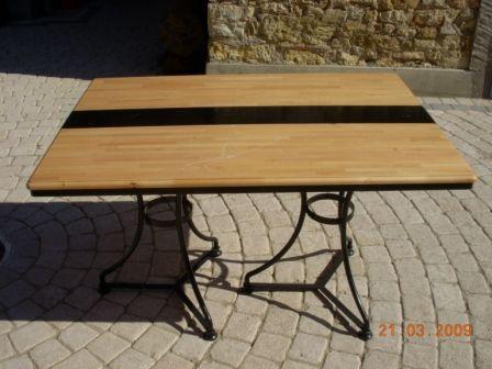 Table de cuisine genre bistrot faite sur mesure table en bois - Table sur mesure en bois ...