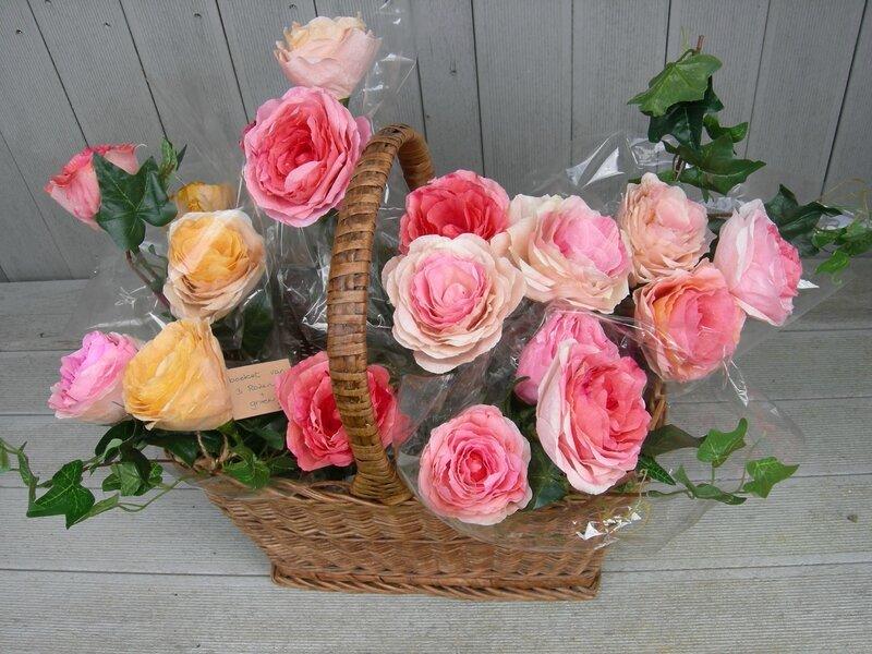 Panier + roses