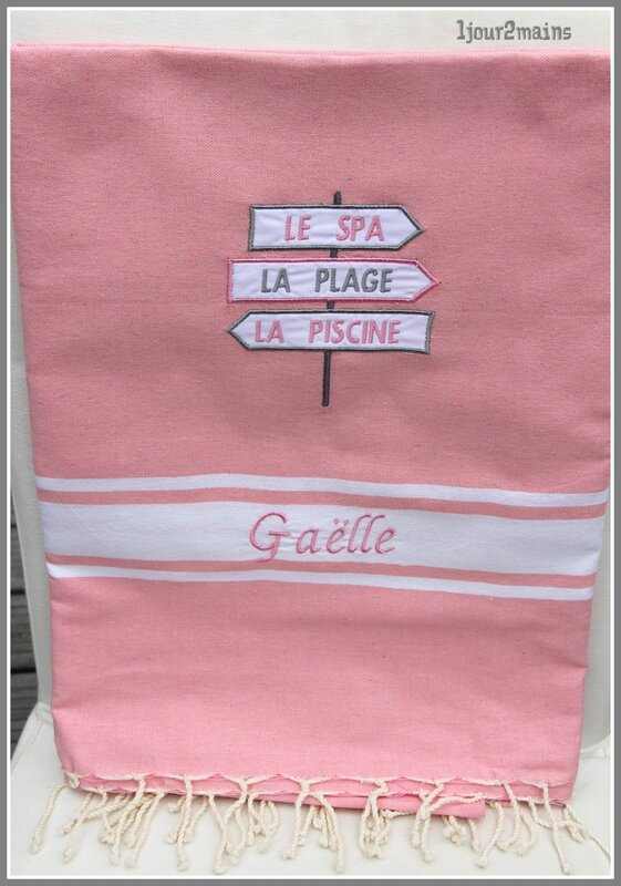 fouta rose direction Gaëlle