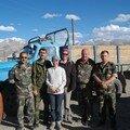 Nos preneurs de stop, des soldats russes tadjiks afghans