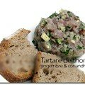 Tartare de thon gingembre et coriandre