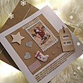 Carte Joyeux Noël Fil and kraft Marimerveille N°8