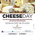 Vous aimez le fromage, vous êtes parisien ?rdv au cheese-day lundi 20/02! {événement}