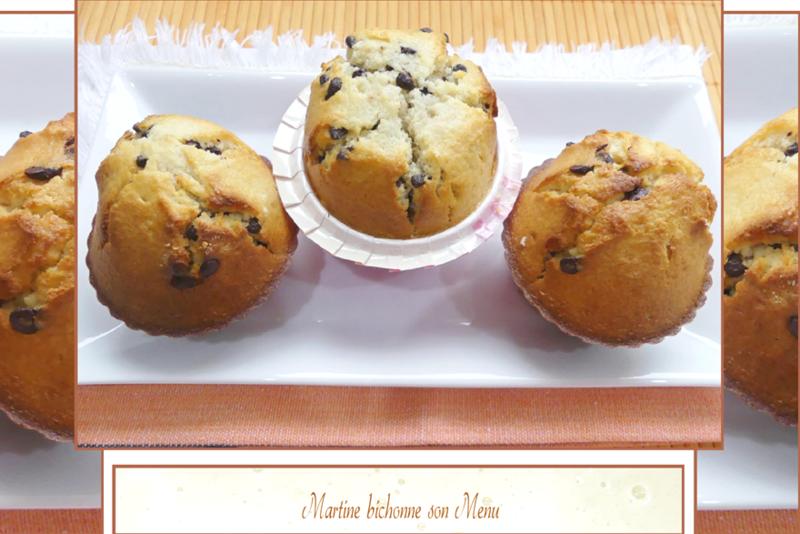 muffins et pépites de chocolat1