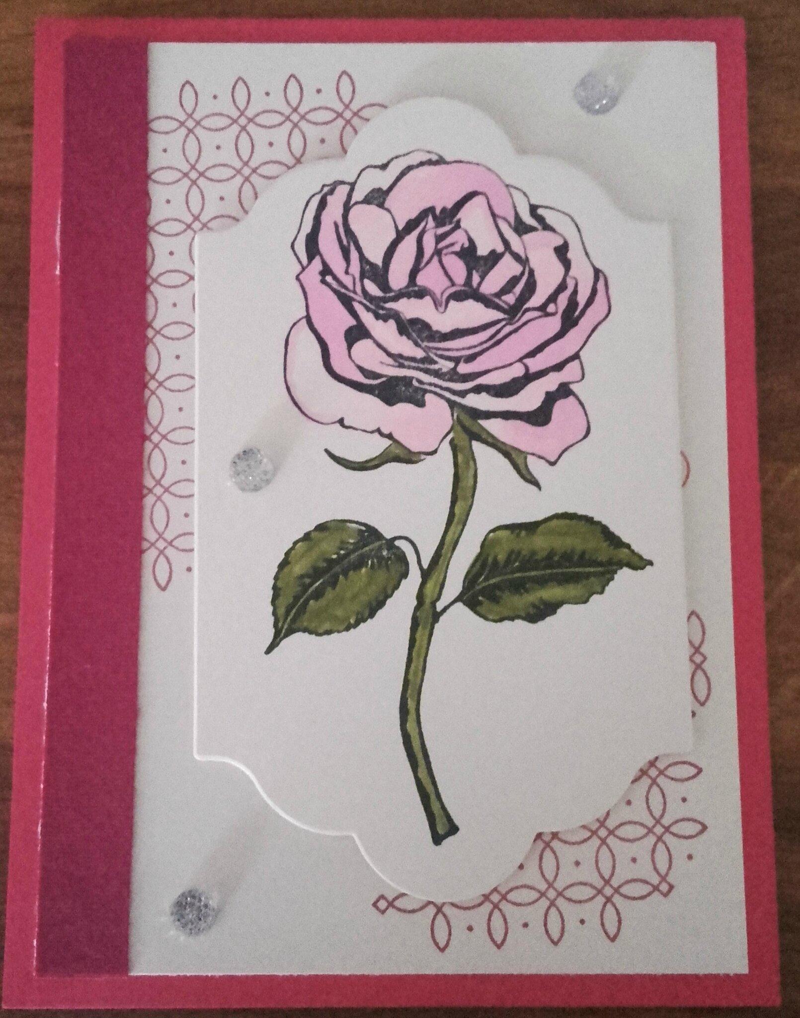 Carte d'anniversaire set tampon Graceful Garden