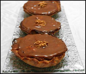 Tartelettes noix et caramel au beurre salé 1