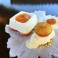 Petit fromager au citron, confiture d'abricot, bouchées aux agrumes et glace vanille