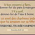 Si ton ennemi a faim, donne-lui du pain (13)