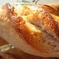 Baguettes  base de levain aux raisins