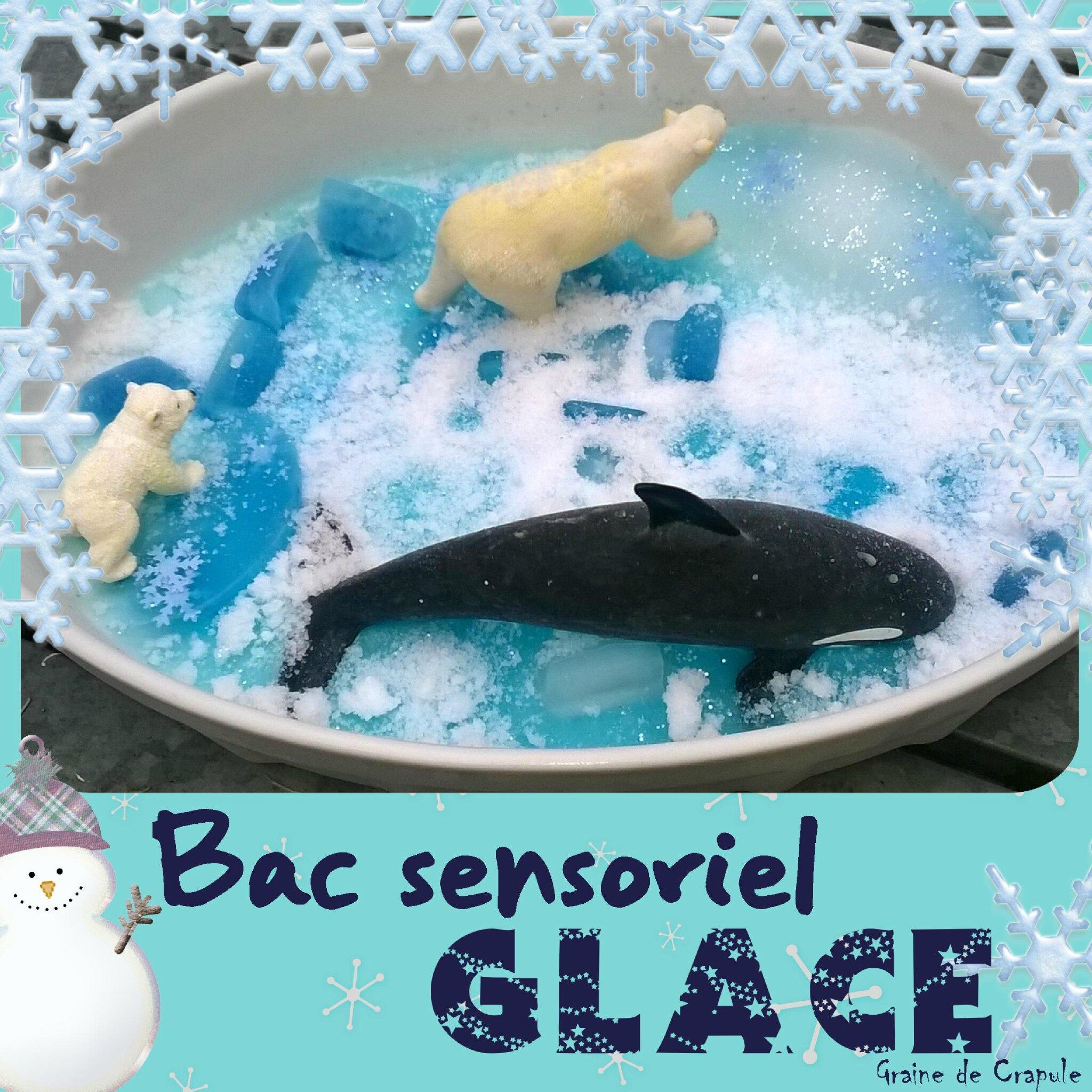 """Bac sensoriel """"Glace"""""""