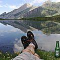 Jénorme face au miroir du lac d'Anglas (64)
