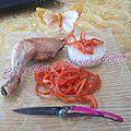 Wok de spaghetti de carottes