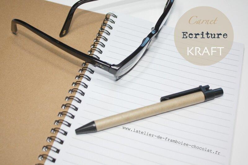 Carnet écriture L'Atelier de Framboise Chocolat