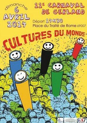 Affiche Carnaval Gerland 2014