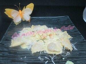 Raviolis sauce crème oignons et saumon fumé27