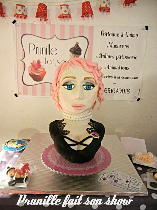 gateau pin up sur stand prunillefee