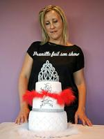 prunille fait son show et son wedding cake