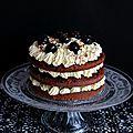 Naked cake façon forêt noire