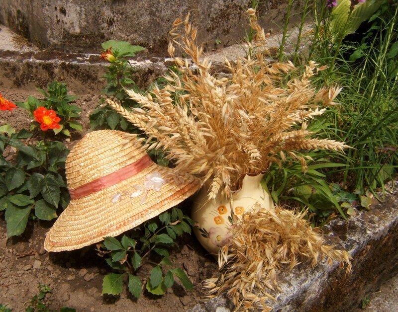 Chapeau de paille et céréales