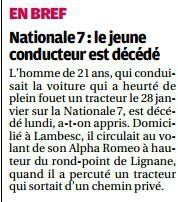 accident Lignane 6-2-2015