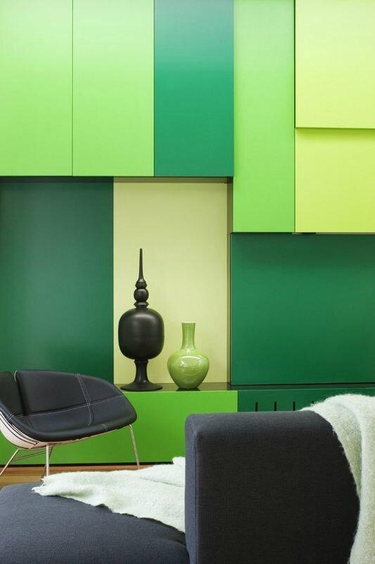 déco-couleur-design-verte-white-cube-par-Matt-Gibson-Architecture-Melbourne-Australie