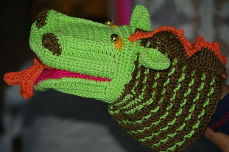 marionnette dragon au crochet