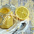 Lemon curd light {sans beurre}