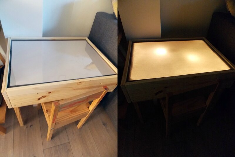 table-lumineuse-diy